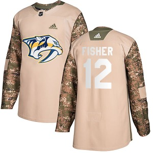 Youth Mike Fisher Nashville Predators Adidas Authentic Camo Veterans Day Practice Jersey